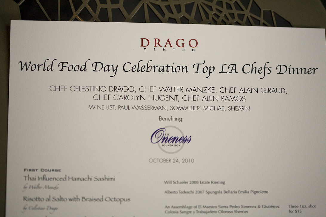 Food Celebration Dinner - Top LA Chefs